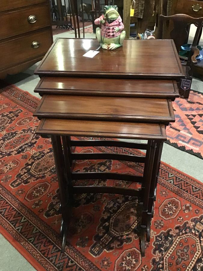 Mahogany Edwardian Quartetto Nest of Tables
