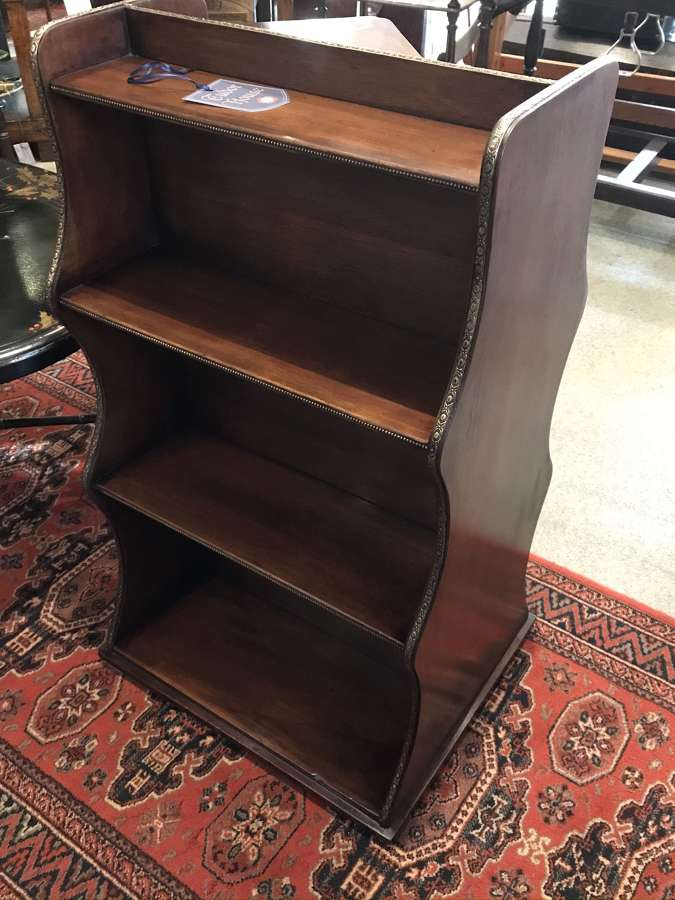Mahogany double waterfall bookcase