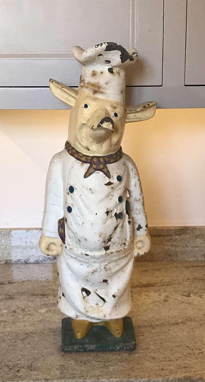 1950's Butchers Shop Display Pig