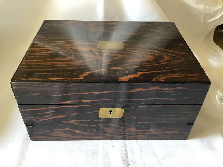Coromandel Work Box and Writing Slope