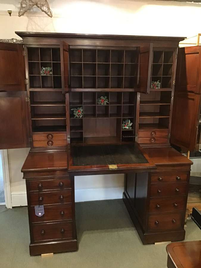 Country House Estate Office Desk and Cabinet