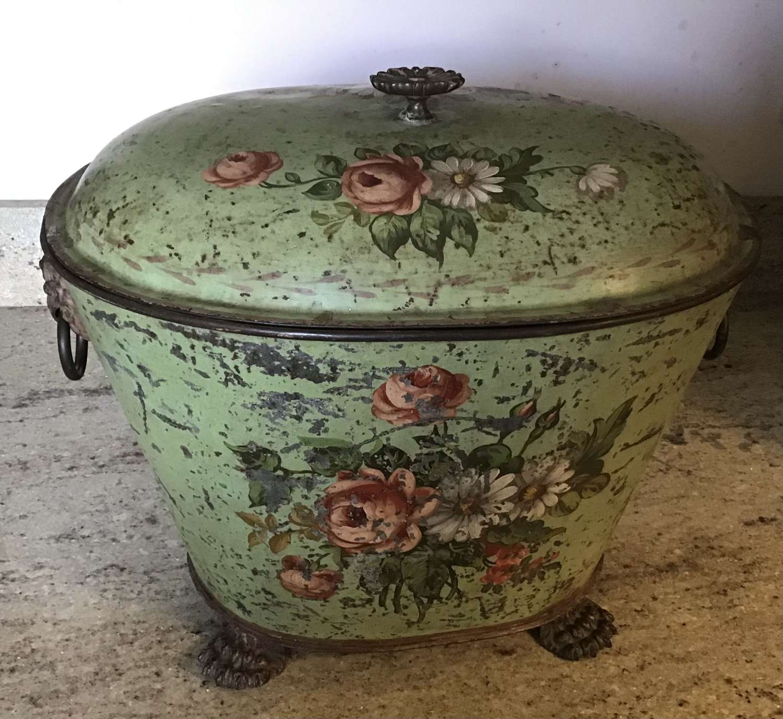 Victorian Toleware Coal Bucket