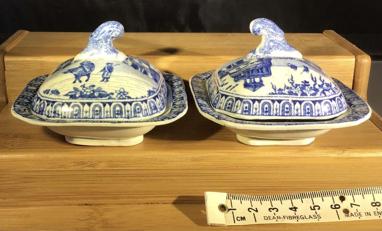 Child's toy miniature pair of Tureens
