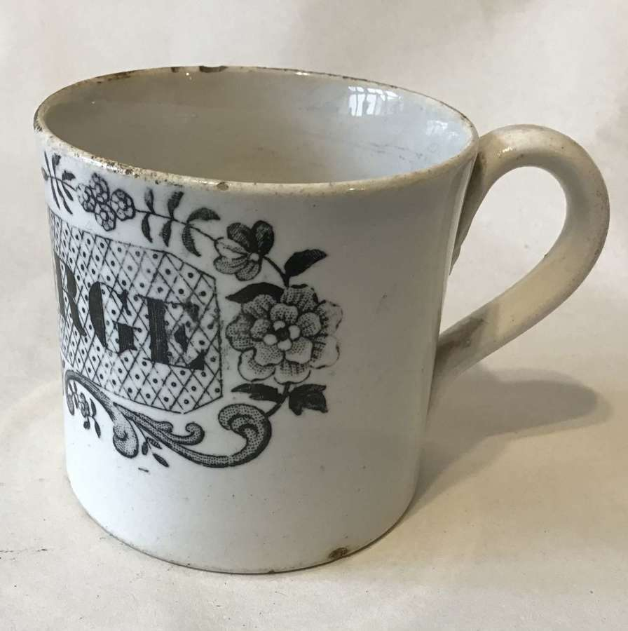 Rare early 19th century child's nursery mug - George