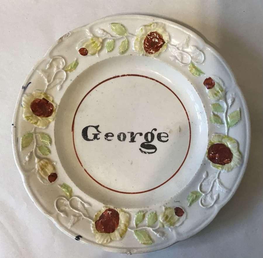 Rare child's nursery plate - George