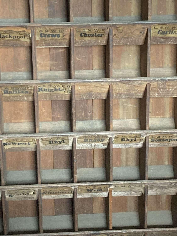LNWR & G.W.R pigeon ticket holes cabinet
